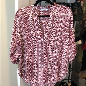 Red patterned Lush blouse!
